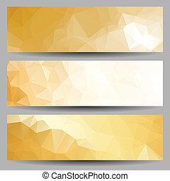 abstrakt, sätta, baner, trianglar