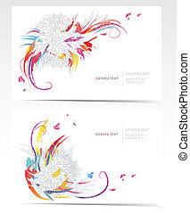 abstrakt, sæt, baggrund, card