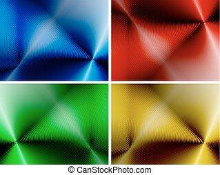 abstrakt, sæt, baggrunde, multicolored