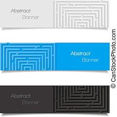 abstrakt, satz, banner