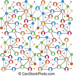 abstrakt, schema, von, sozial, vernetzung