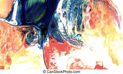 abstrakt, schoenheit, von, kunst, tinte, farbe, explodieren, bunte, fantasie, spannweite