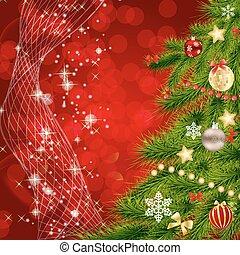 abstrakt, schoenheit, weihnachten neues jahr, hintergrund., vektor, abbildung