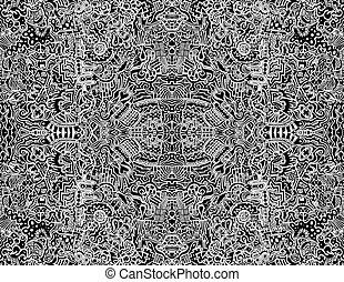 abstrakt, seamless, abbildung, vektor, design, kompliziert