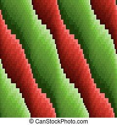abstrakt, seamless, vågig, röda och gröna, stripes