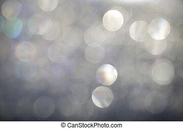 abstrakt, silver, bokeh, bakgrund