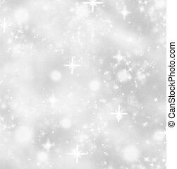 abstrakt, skinnende, sløre, jul, baggrund