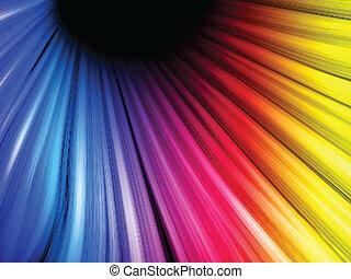 abstrakt, sort baggrund, farverig, bølger