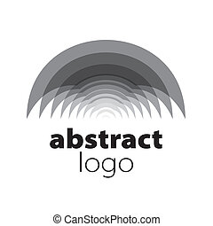 abstrakt, spektrum, vektor, lagener, logo, krummet