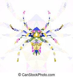 abstrakt, spindel, illustration