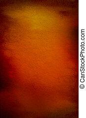 abstrakt, strukturerad, bakgrund, med, röd, brun, och, gul,...