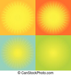 abstrakt, sunburst, bakgrund