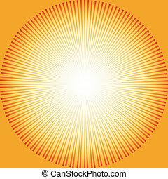 abstrakt, sunburst, bakgrund, (vector)