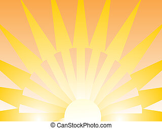 abstrakt sunrise - vector illustration of an abstract...