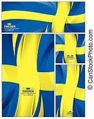 abstrakt, sweden läßt, hintergrund