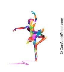 abstrakt, tänzer