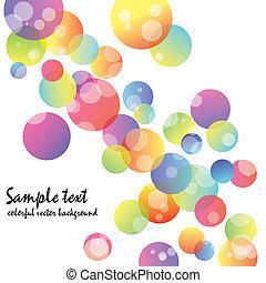 abstrakt, tapet, cirkel, farverig