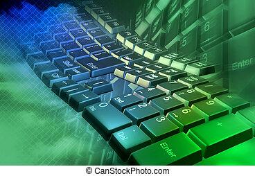 abstrakt, tastatur