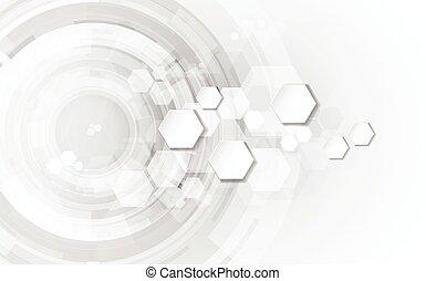 abstrakt, technologie, begriff, hintergrund, vektor, abbildung