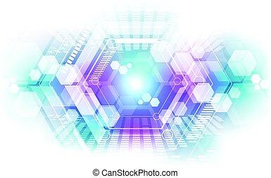 abstrakt, technologie, begriff, hintergrund., vektor, abbildung