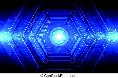 abstrakt, technologie, concept., vektor, abbildung, hintergrund