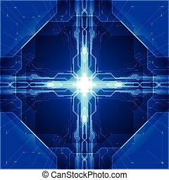 abstrakt, technologie, concept., vektor, hintergrund