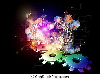 abstrakt, technologie, digital