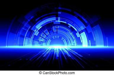 abstrakt, technologie, geschwindigkeit, concept., vektor, hintergrund