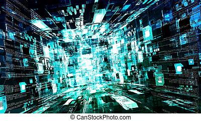 abstrakt, technologie, hintergrund, internet