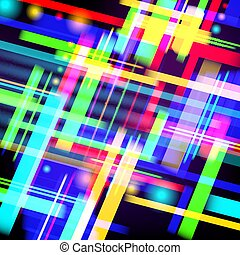 abstrakt, technologie, hintergrund, von, farbenfreudiges licht, und, stripes., vektor