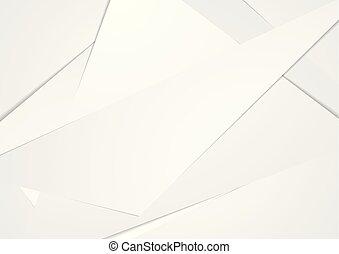 abstrakt, technologie, korporativ, polygonal, grau, hintergrund
