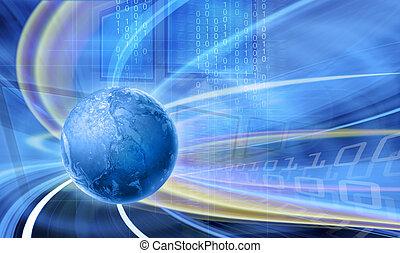 abstrakt, technologieabbildung