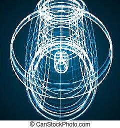abstrakt, teknik illustration