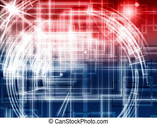 abstrakt, teknologi, bakgrund