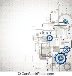 abstrakt, teknologi, firma, baggrund, vektor, illustration