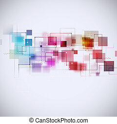 abstrakt, teknologi, multicolor, baggrund