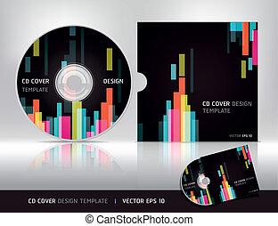 abstrakt, template., decke, design, cd