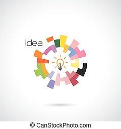 abstrakt, template., logo, skapande, cirkel, vektor, design