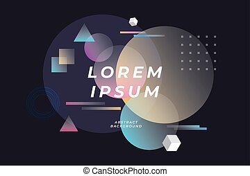 abstrakt, text., plats, bakgrund, geometrisk, komposition