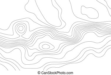 abstrakt, topografisk, map.