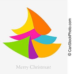 abstrakt, träd, jul