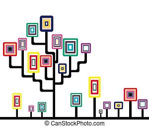 abstrakt, träd
