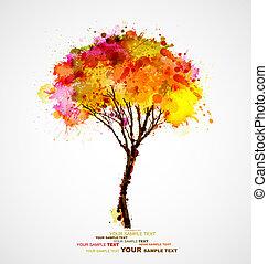 abstrakt, træ