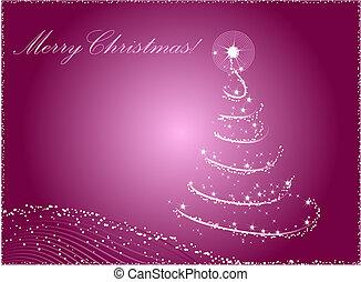 abstrakt, træ, jul, baggrund