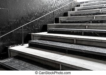 abstrakt, trappa, steg