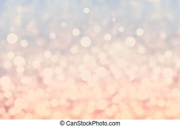abstrakt, twinkled, lysande, bakgrund, med, bokeh,...
