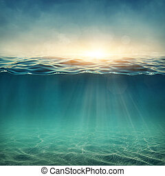 abstrakt, undervattens, bakgrund