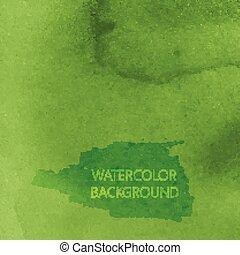 abstrakt, vattenfärg, vektor, design, bakgrund, grön, din