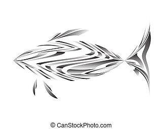abstrakt, vektor, abbildung, f