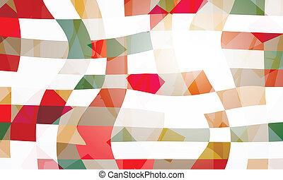 abstrakt, vektor, bagtæppe
